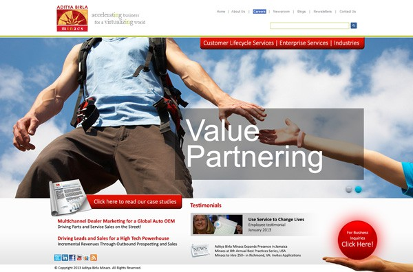 Home Page Web Design