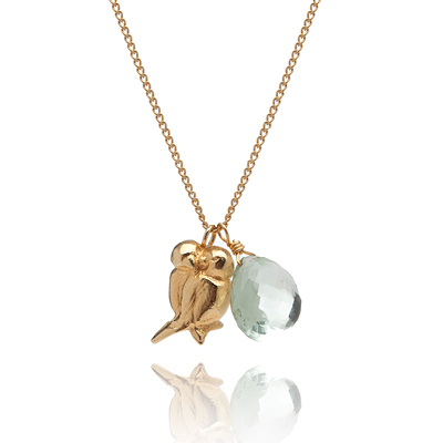 Sophie Lutz Bespoke Gold Necklace with alternative gemstone