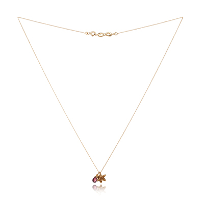Sophie Lutz Jewellery Sex orchid gold necklace