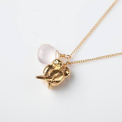Sophie Lutz Jewellery Love Lovebirds Gold Necklace