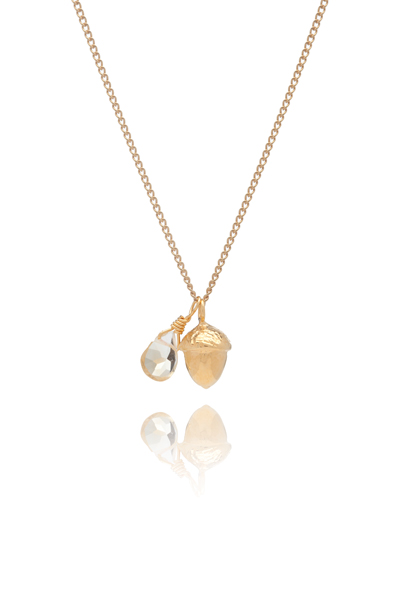 Sophie Lutz Jewellery Money Symbolism Gold Acorn Necklace