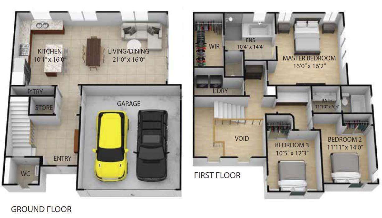 134 Mustang - Floor Plan