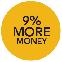 9% More Money
