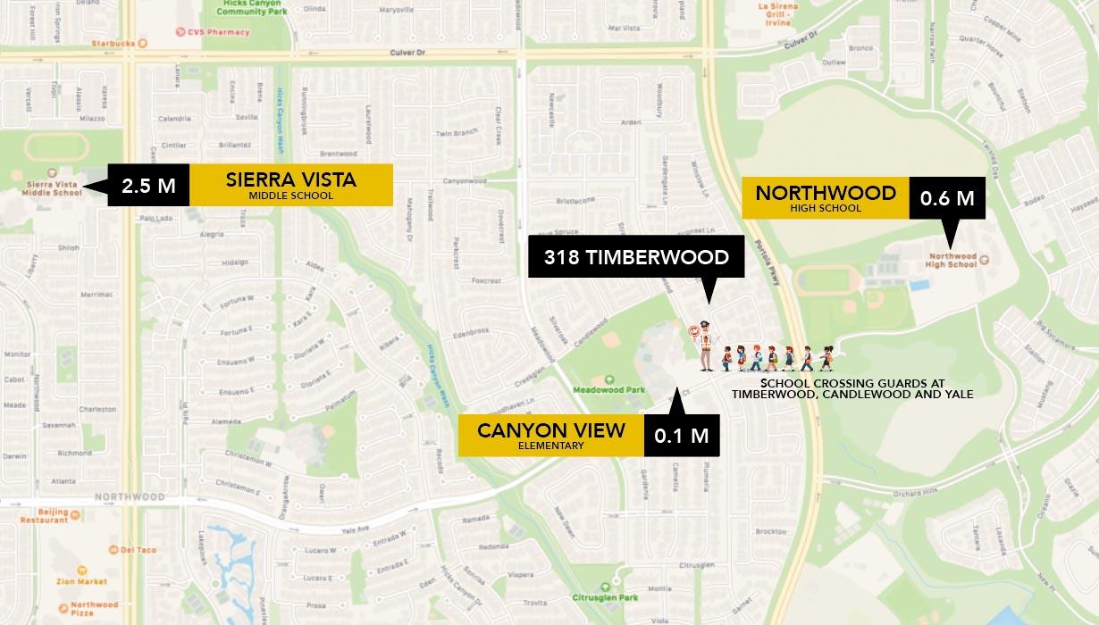 Schools near 318 Timberwood, Irvine, CA