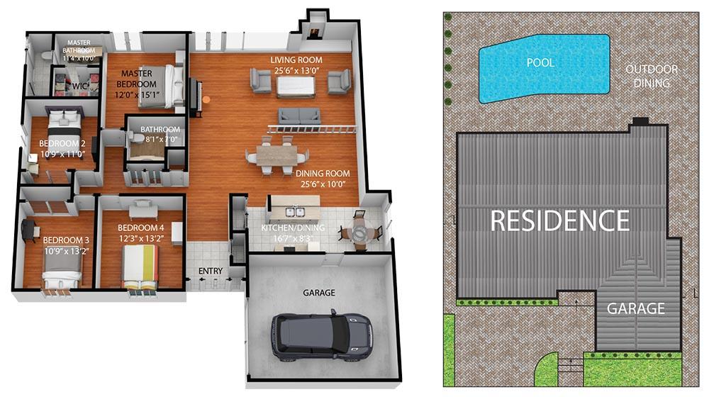Floor Plan 5282 Cambridge Avenue, Westminster 92683