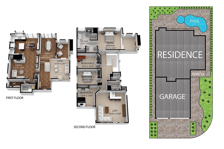 Floor Plan for 13 Recodo, Irvine