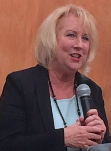 Joan Shaver at a Public Speaking Event