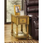 Vintage Style Light Brown Wood 1-Drawer End Table Nightstand