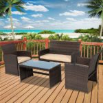 Rectangle 59 x 31-inch Solid Wood Patio Dining Table with Center Umbrella Hole