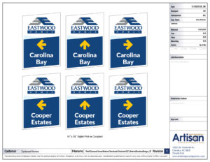 Weekend Directional Signs proof page