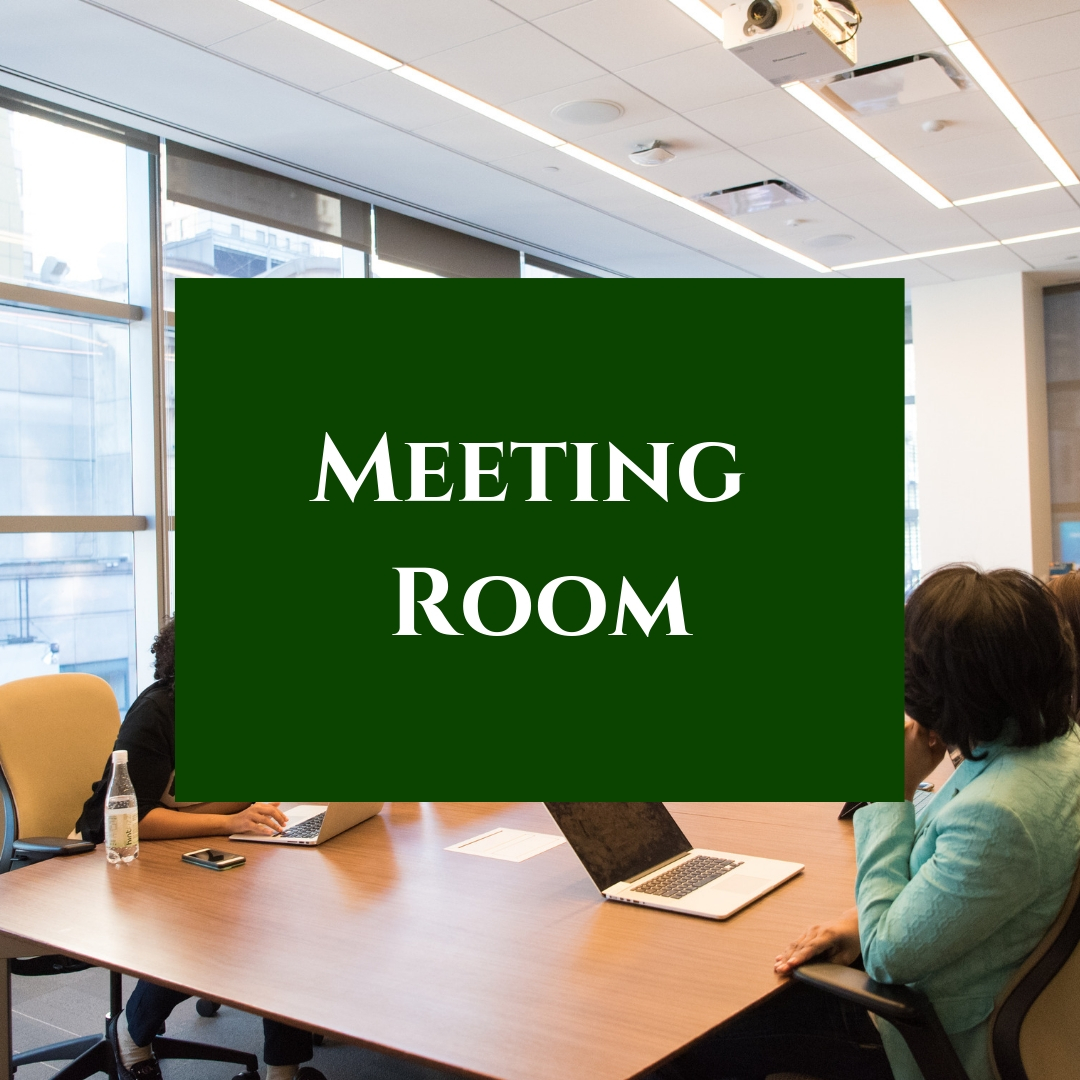 Our Robert D. Goodrich room is available for public non-profit functions. Click for the meeting room policy.