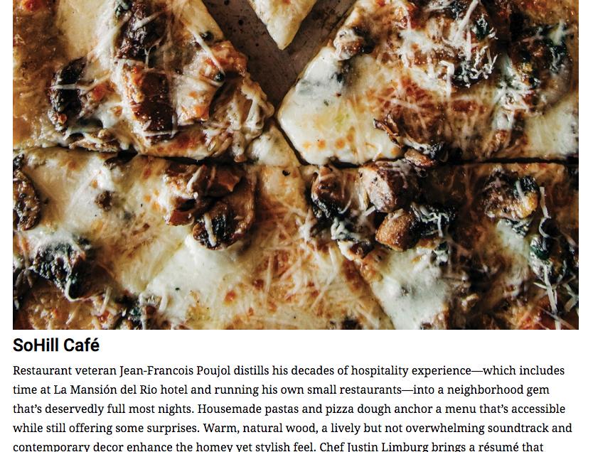 San Antonio Magazine's Top 10 New Restaurants