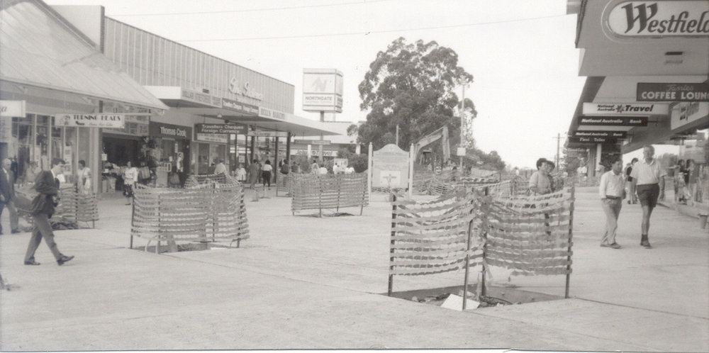 Construction of Florence Street Mall, Hornsby - 1991