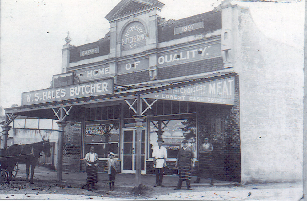 Hales' Butchery, Peats Ferry Road, Hornsby - 1920