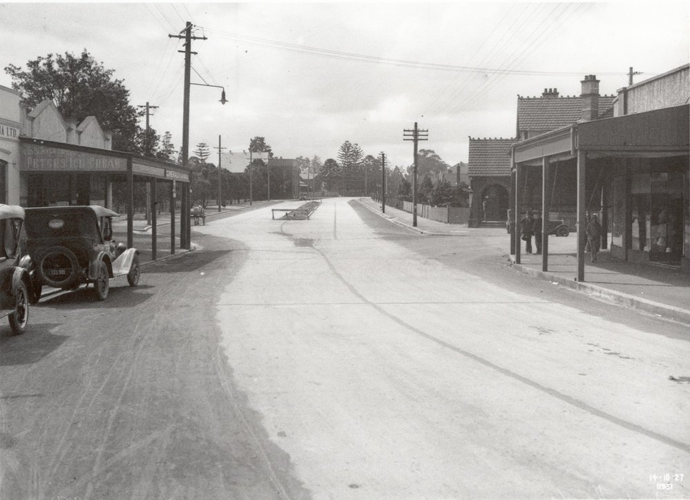 Peats Ferry Road and Coronation Street, Hornsby - 1927