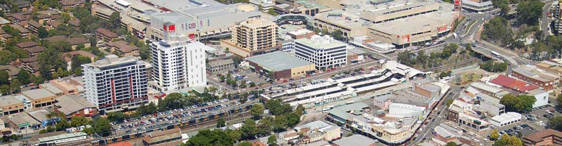 Hornsby town centre aerial photo