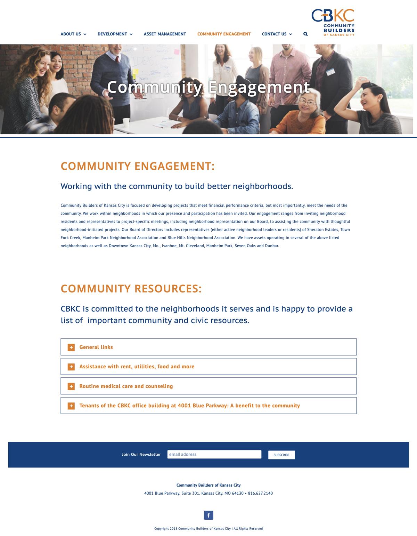 Company Informational Website Design for CBKC