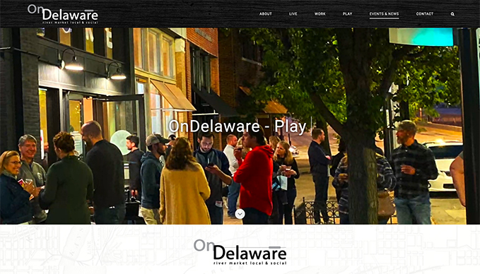 Custom Wordpress Design for On Delaware