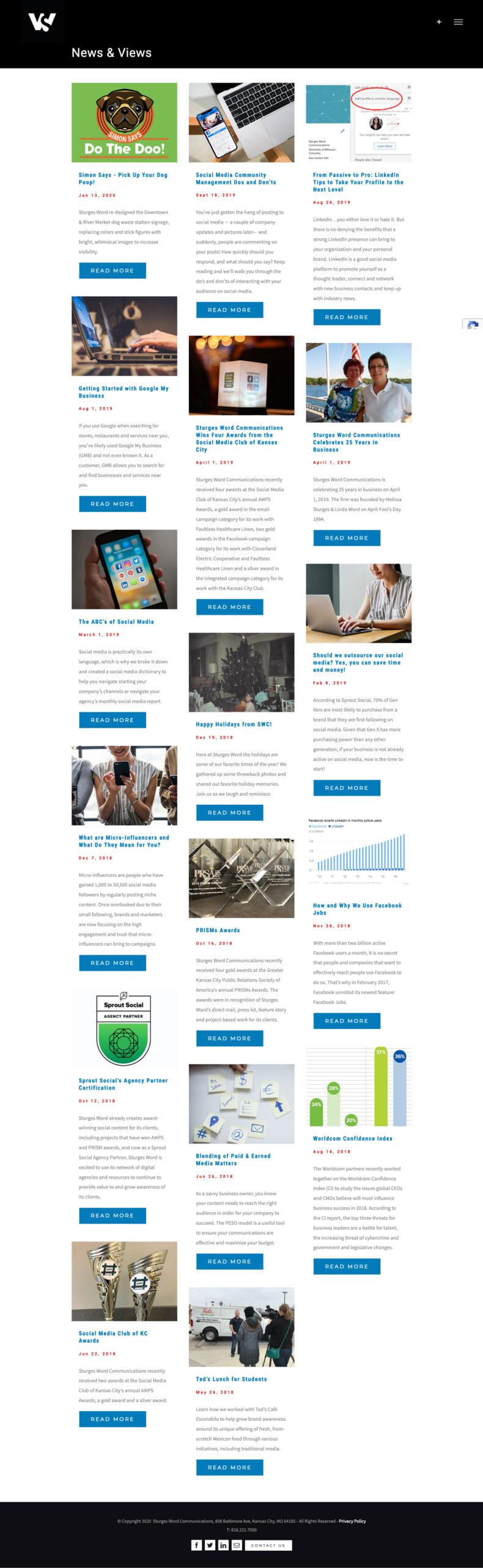 Website Development - Sturges Word Blog Posts