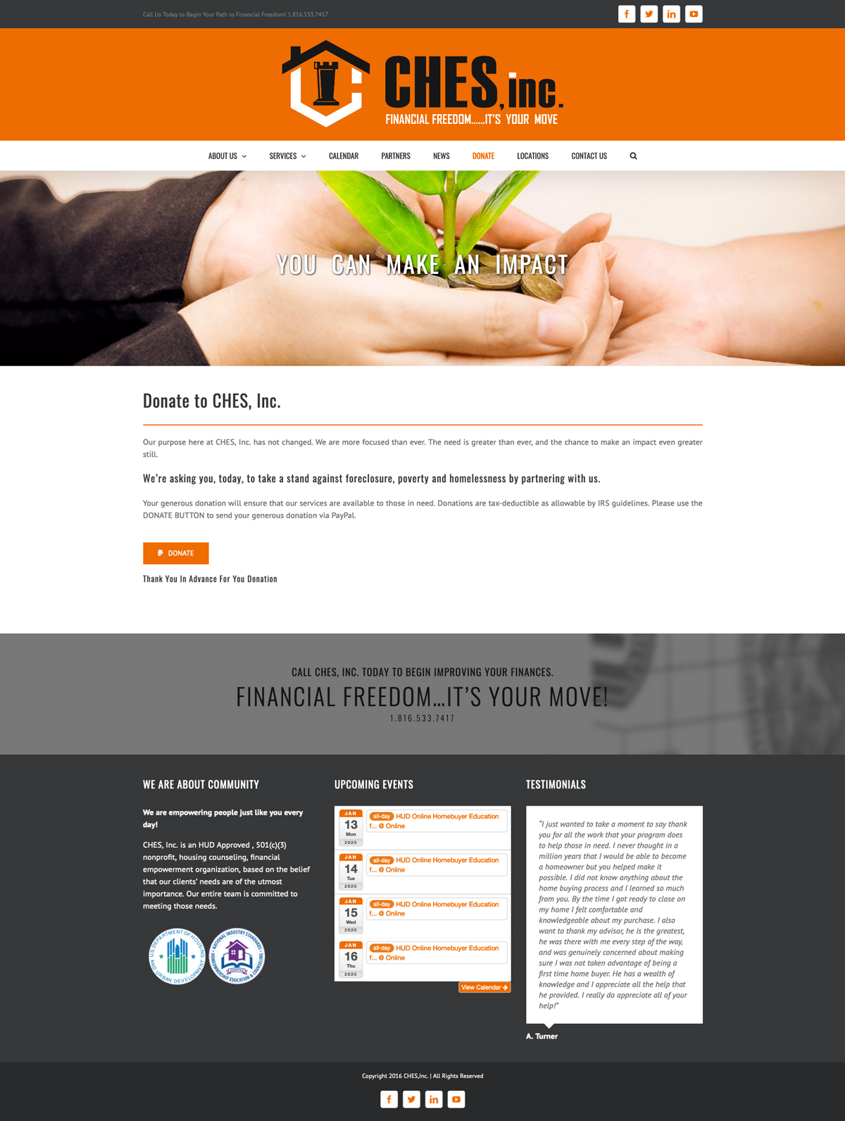 Ches, Inc Website Design by Corner Designs
