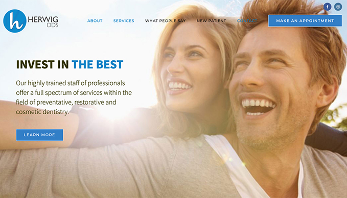 Herwig DDS web design