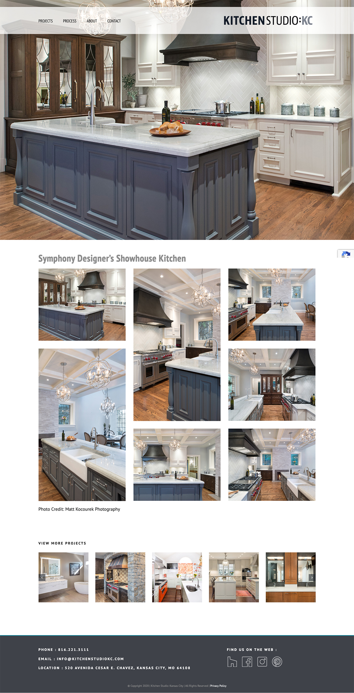 Kitchen Studio:KC business portfolio website