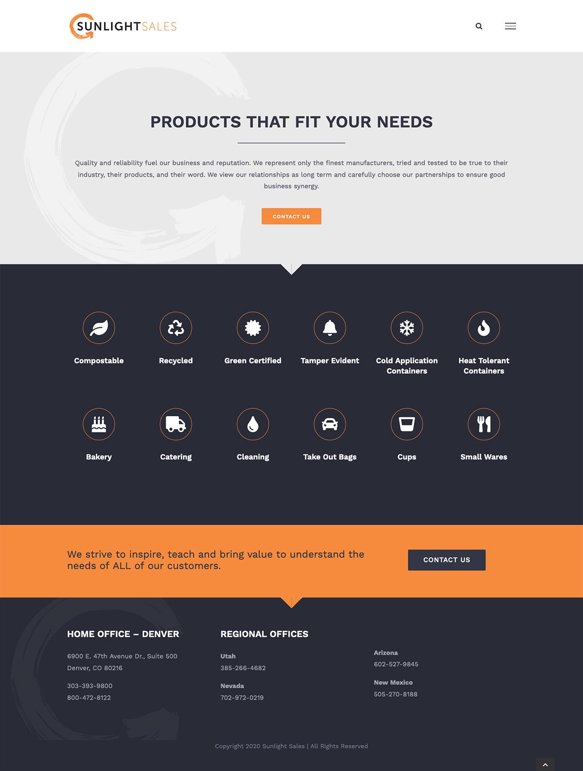 Sunlight Sales Business Website