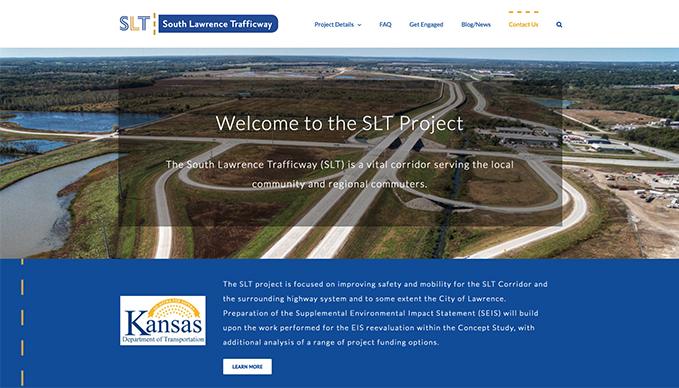 South-Lawrence-Trafficway informational website design