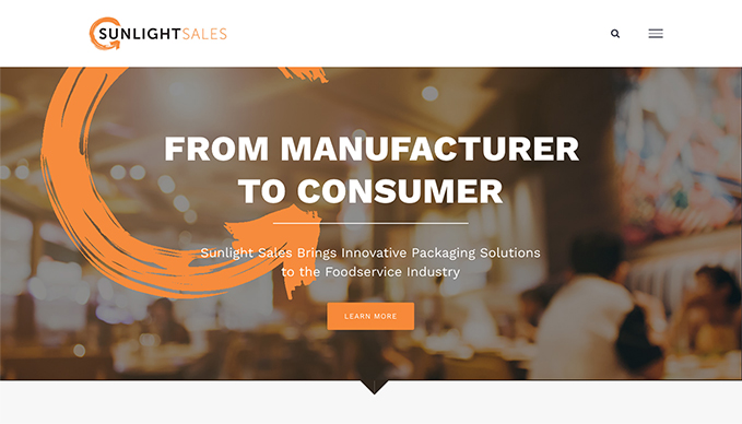 Sunlight Sales Business Website