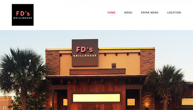 One Page Web Design - FD's Austin