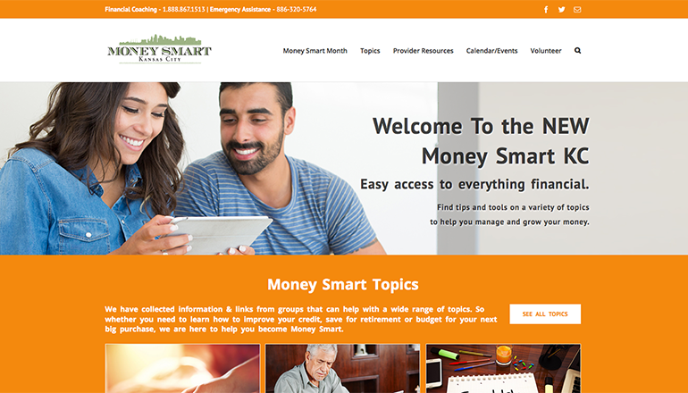 Money Smart KC: Informational Website Design and Development
