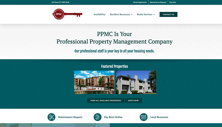Customer Management System (CMS) Website Design for Professional Property Management Company (PPMC)