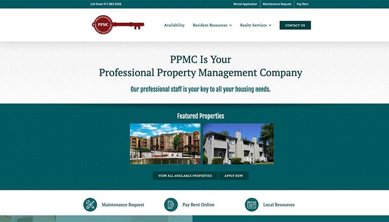 Customer Management System (CMS) Website Design for Professional Property Management Company (PPMC)