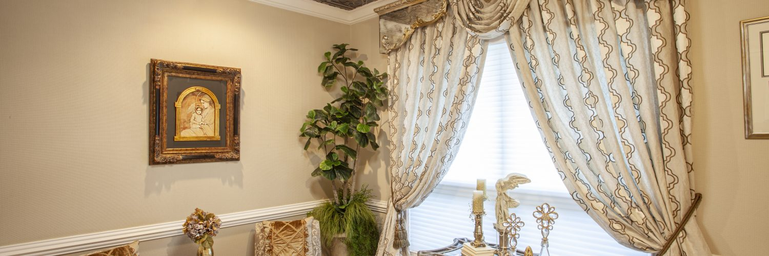 Window treatments by Brandi and Samantha Day of Day Designs