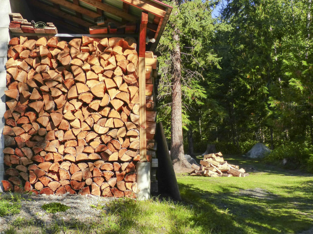 Stacking firewood properly