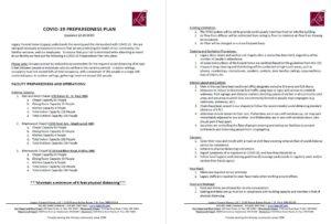 Covid-19 Preparedness Plan 12.19.2020