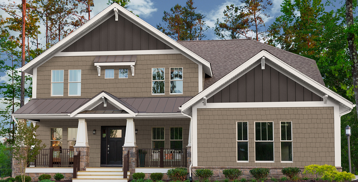 Exterior House with Custom Accents