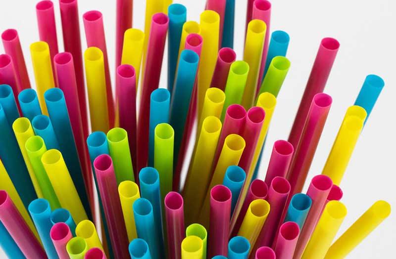 Plastic Straws tips, range of bright colours