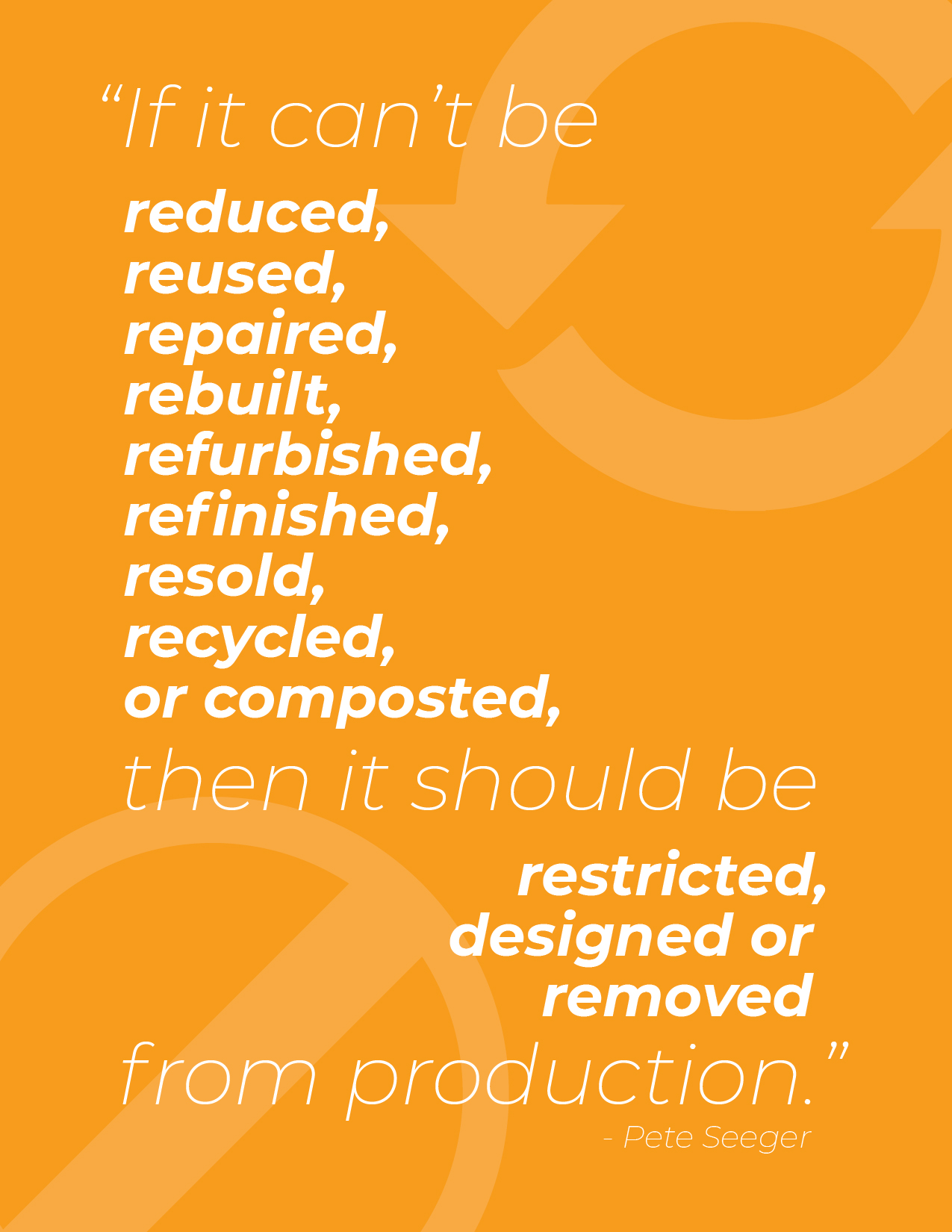 If it cant be reduced, infographic. Quoted by Pete Seeger