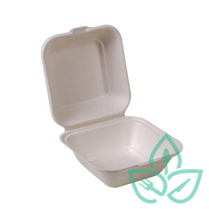 Clamshell compostable take away container