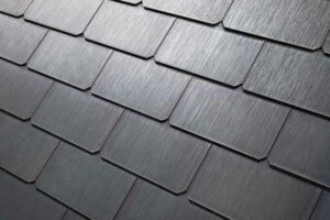 Telsa roof tiles close up image