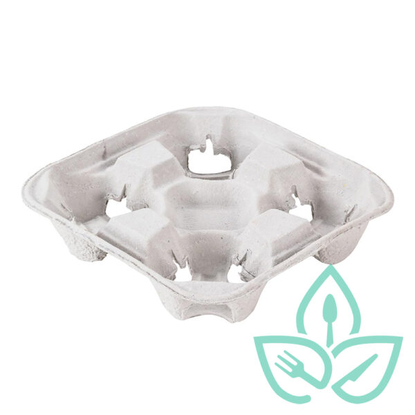 4 cup tray holder compostable materials Good Earth Packaging EWC