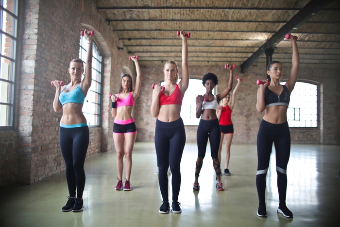 Girls Doing Aerobic Exercise