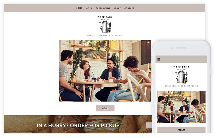 overservhost website builder cafe faba