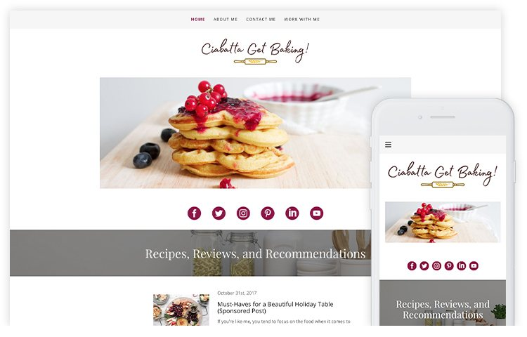 overservhost website builder ciabatta get baking