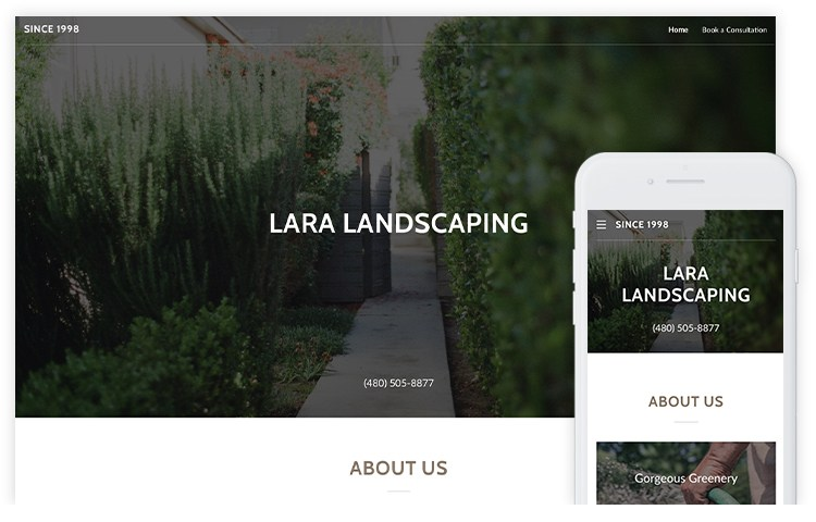 overservhost website builder fantastic landscaping