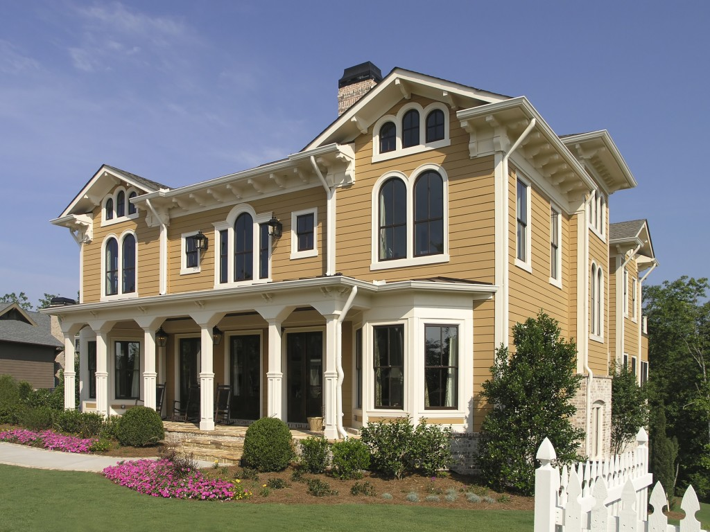 Luxury House with exterior architecture and fence