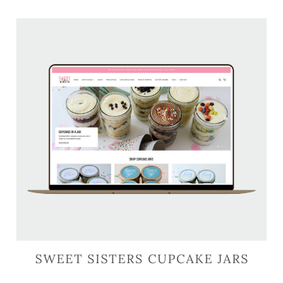 Sweet Sisters Cupcake Jars