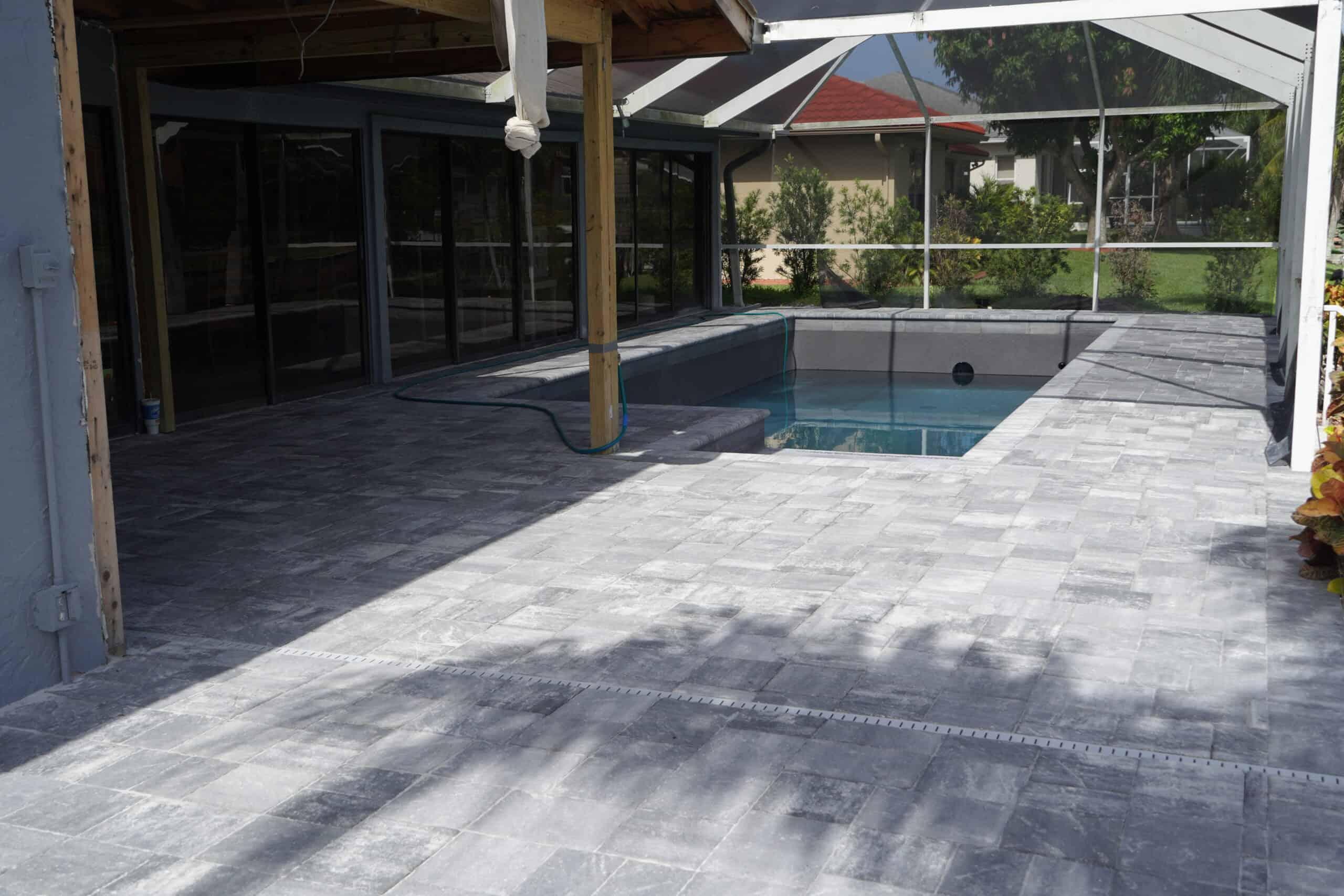 Bonita Springs FL Pool Deck Grey