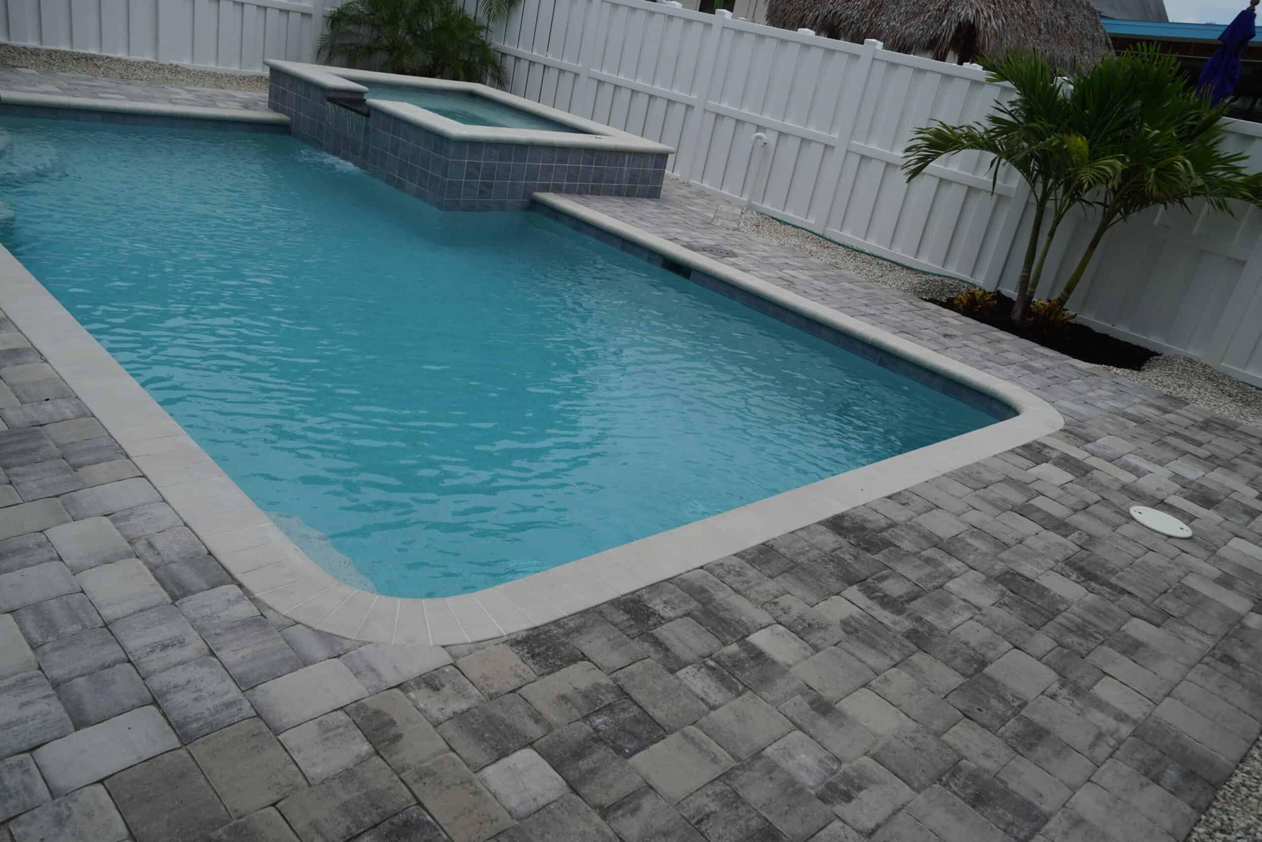Naples Pool Deck Pavers Installation A